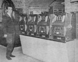 Ivor Junior with First batch of Bally Gold Awards machines in Marina Arcade. Ramsgate, circ 1965