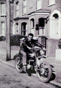 Ivor Thomas Junior on his trials bike 1963