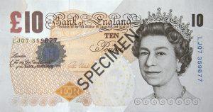 £10 note specimen