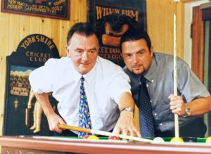 Taking time out - Ivor and Paul 1998
